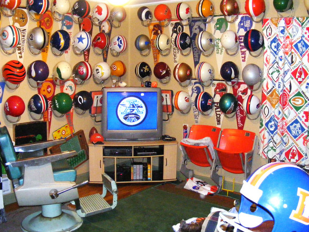 Man Cave Ideas Sports Theme : Nfl themed man cave ideas sports