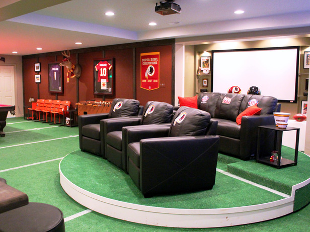 Nfl Themed Man Cave Furniture Ideas Sports Man Cave Ideas