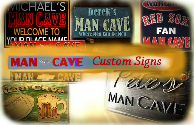 Personalized Sports Man Cave Signs : Personalized neon signs for man caves sports cave ideas